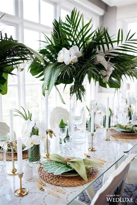 Tropical Wedding Reception Centerpieces