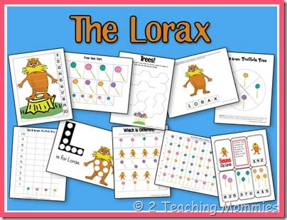dr seuss classroom activities for the lorax 748 | Lorax Printable Pages