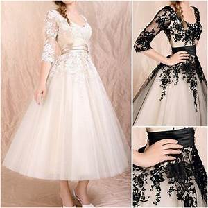 china new champagne black lace short bridal wedding gown With 3 4 sleeve short wedding dress