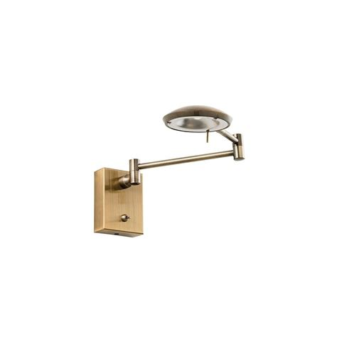 contemporary led antique brass wall mounted reading l