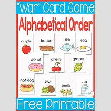 """Free Printable Alphabetical Order """"war"""" Card Game  Alphabetical Order, Simple Words And Learning"""