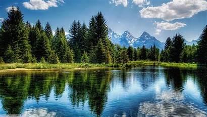 Nature Landscape Trees Reflection Wallpapers Mountains Desktop