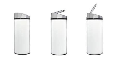 poubelle de cuisine blanche poubelle automatique ronde blanche achetez nos poubelles