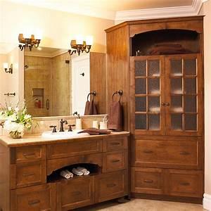Armoire Salle De Bain Bois : cuisines beauregard salle de bain r alisation 209 salle de bain champ tre ~ Teatrodelosmanantiales.com Idées de Décoration