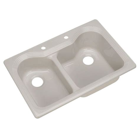 thermocast kitchen sink thermocast breckenridge drop in acrylic 33 in 2 2726