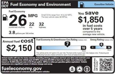 fuel economy  environment label nhtsa