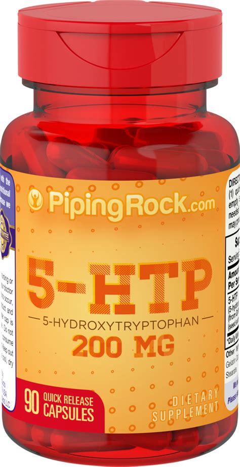 5-HTP 200 mg | Mood Support Supplement | Piping Rock ...