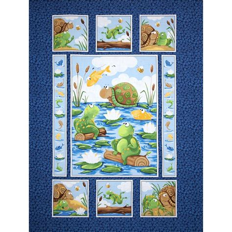 fabric panels for quilting susybee paul sheldon fishing 36 quot panel navy
