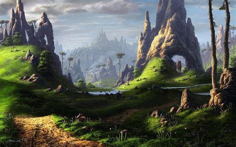 fantasy art plains wallpapers hd desktop  mobile