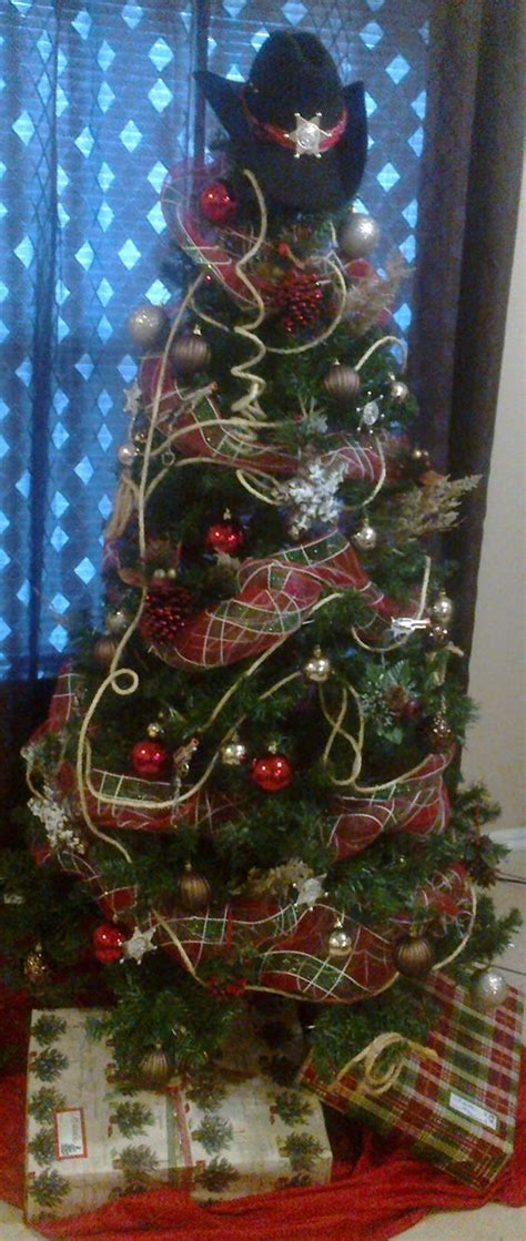 western christmas decorating ideas cowboy tree ideas trees warm and trees