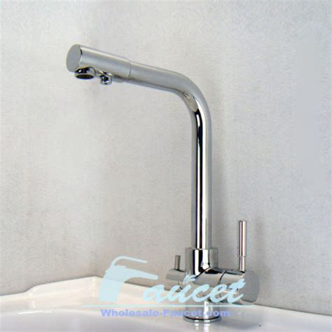 kitchen faucet with filter water filter tri flow kitchen faucet contemporary