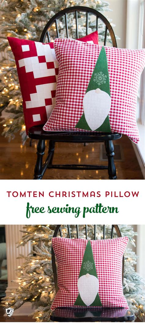 tomte christmas gnome pillow pattern page