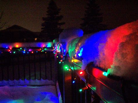 super cool christmas lights under the snow