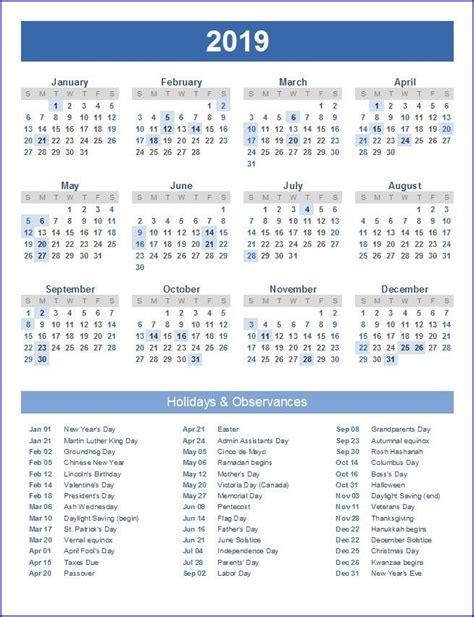 calendar  usa holidays holiday calendar printable