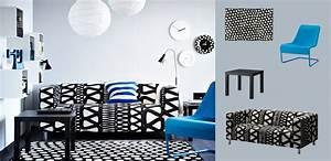 klippan canape 2 places avec housse storlien noir blanc With tapis couloir avec canape d appoint 2 places