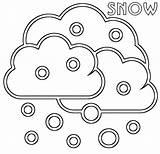Snow Coloring Cloud sketch template