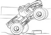 blaze monster truck coloring page  printable