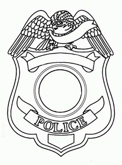 Badge Police Coloring Pages Template Sheet Templates