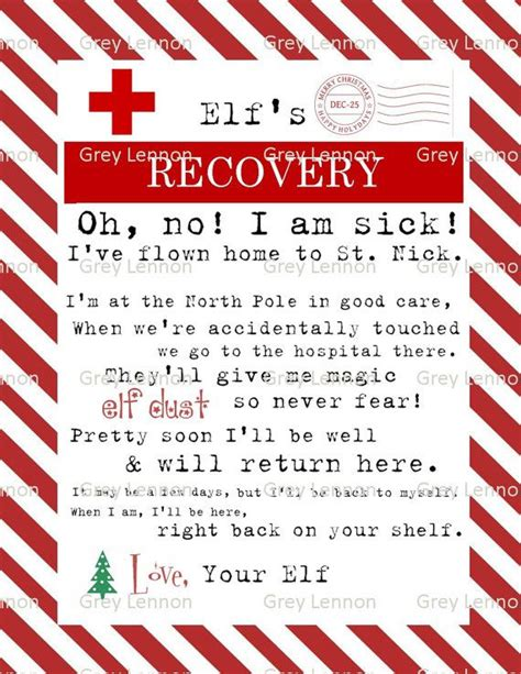 christmas elf recovery letter  touched  lost magic