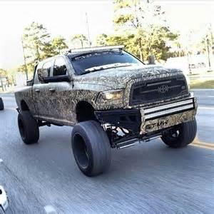 Camo Jacked Up Dodge Trucks