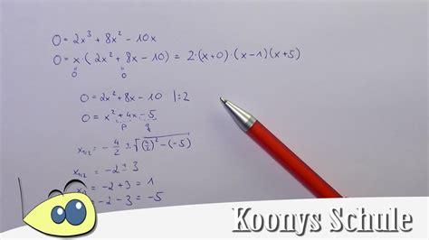 nullstellen berechnen pq formel nullstellen berechnen