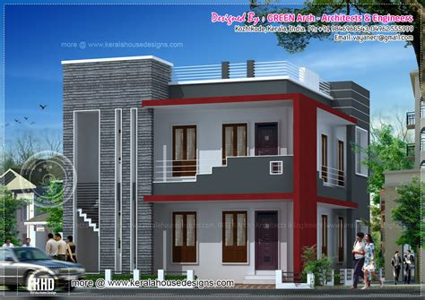 186 Square Meter Modern Villa Elevation  Kerala Home