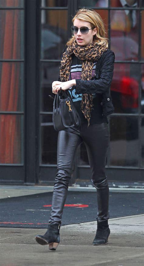 emma roberts ankle boots emma roberts  stylebistro