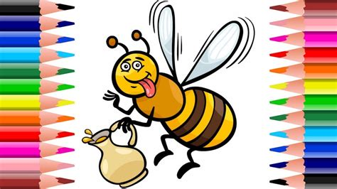 draw  cute honey bee funtico amazing color pages