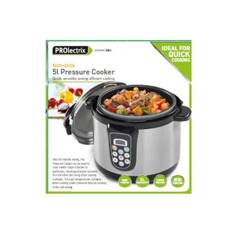 Kitchen Living Pressure Cooker by Prolectrix 5l Non Stick Pressure Cooker For A And