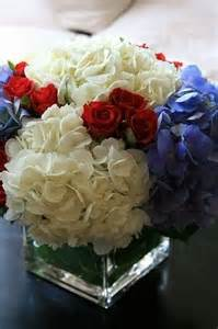 Red White and Blue Floral Centerpiece