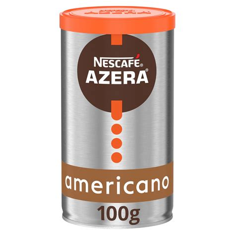The product is marketed in the main supermarkets in three different roasting intensities: Nescafé Azera Americano Instant Coffee with Ground Beans 100g | Hot Beverages | Iceland Foods