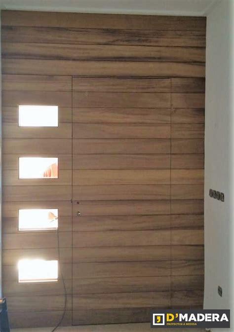 puerta moderna exterior de iroko