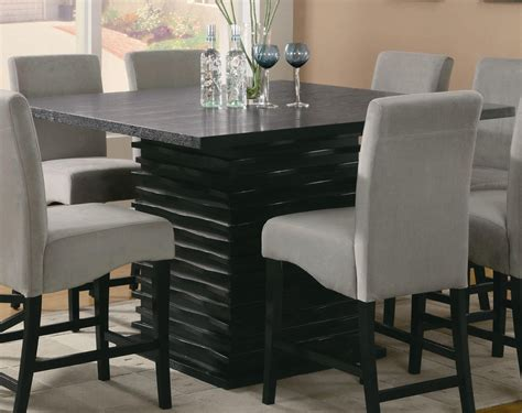 long narrow counter height dining tables creative square