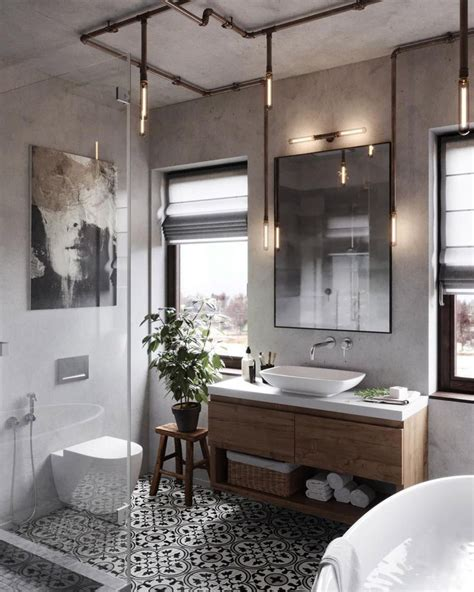 Modern Rustic Bathroom Accessories by 51 Industrial Style Bathrooms Plus Ideas Accessories You