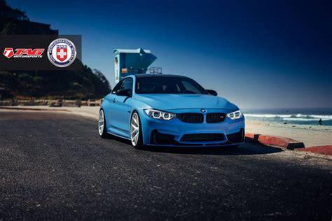 bmw supercar blue yas marina blue bmw m4 with brushed ice hre wheels gtspirit