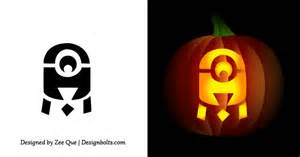 Minion Pumpkin Carving Easy free simple amp easy pumpkin carving stencils patterns for