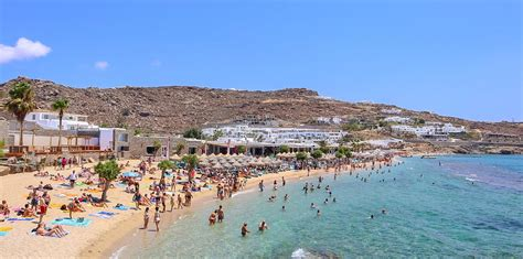 Visiting Paradise Beach In Mykonos Greece For A Beach Party
