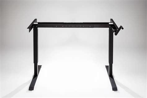 hand crank standing desk manual modtable standing desk base black multitable