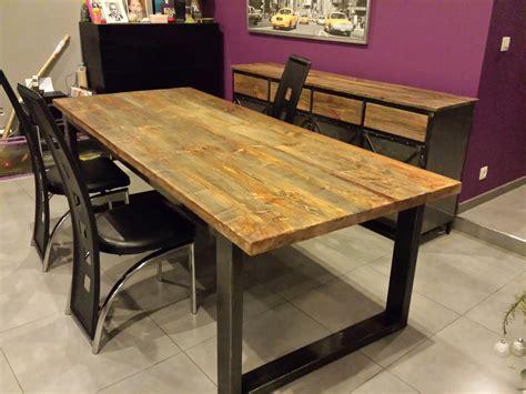 table cuisine bois brut table manger extensible bois salle galerie et table salle