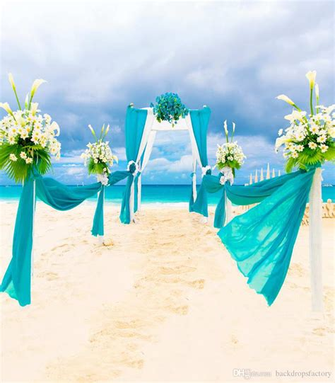 romantic summer beach wedding background photo studio