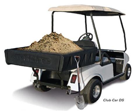 Club Car Dump Box by Brute Heavy Duty Plastic Cargo Bed Brad S Golf Cars Inc