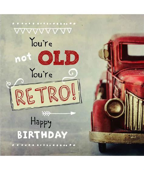 youre   youre retro happy bithday card cancer
