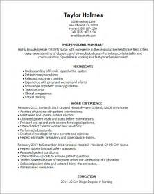 ob gyn resume objectives professional ob gyn templates to showcase your talent myperfectresume