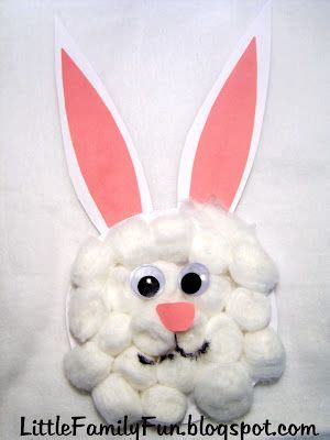 cotton ball bunny craft  fun  easy easter craft