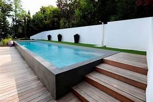 piscines les nouvelles tendances galerie photos d With jardin en pente que faire 15 quel type de maison contemporaine choisir