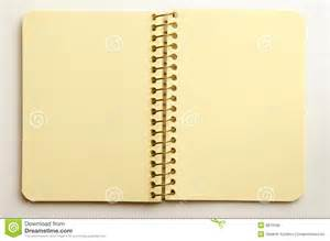 White Notebook Paper Background