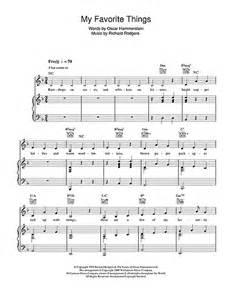 My Favorite Things Piano Sheet Music