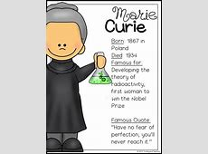 Marie Curie Biography Pack Women's History TPT Fun