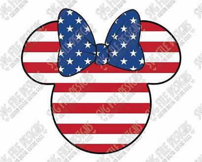 Minnie Mouse Flag Disney American Svg July