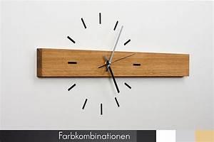 Moderne Wanduhren Wohnzimmer : uhren wanduhr horizont eiche ein designerst ck von ~ A.2002-acura-tl-radio.info Haus und Dekorationen